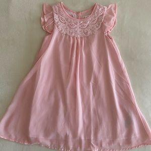 Baby Gap pink chiffon dress